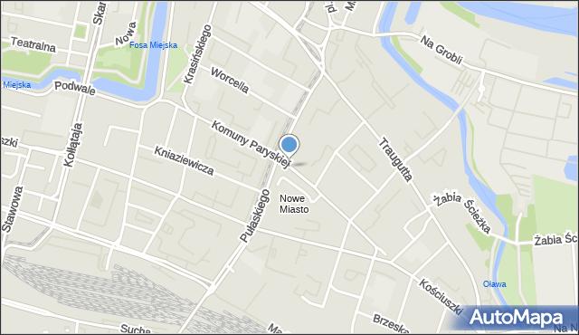 Wrocław, Komuny Paryskiej, mapa Wrocławia