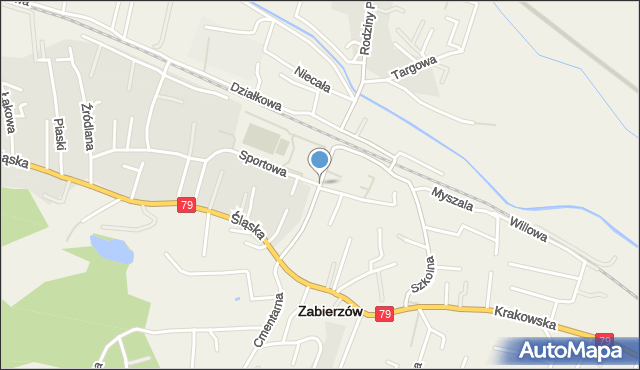 Zabierzów, Kolejowa, mapa Zabierzów