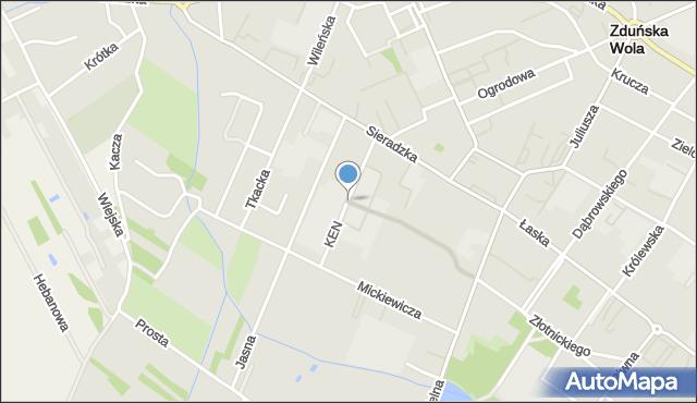 Zduńska Wola, Komisji Edukacji Narodowej, mapa Zduńska Wola