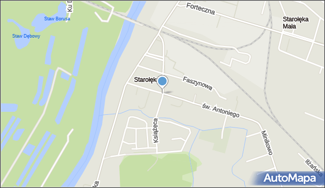 Poznań, Książęca, mapa Poznania