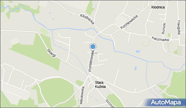 Ruda Śląska, Księcia Poniatowskiego Józefa, mapa Rudy Śląskiej