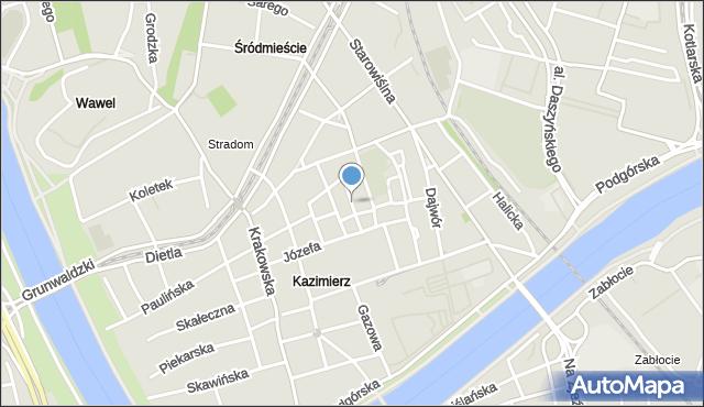 Kraków, Kupa, mapa Krakowa