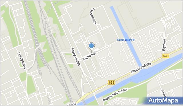 Warszawa, Kupiecka, mapa Warszawy