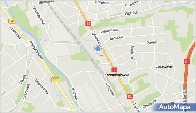 Bielsko-Biała, Letnia, mapa Bielsko-Białej