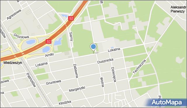 Warszawa, Lokalna, mapa Warszawy