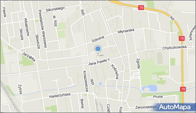 Piaseczno, Ludowa, mapa Piaseczno