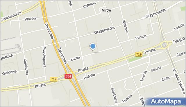 Warszawa, Łucka, mapa Warszawy