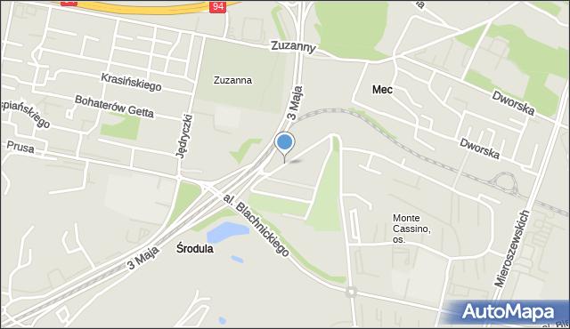 Sosnowiec, Małe Zagórze, mapa Sosnowca