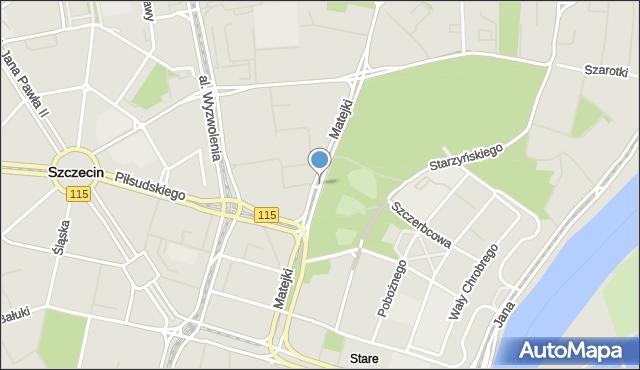 Szczecin, Matejki Jana, mapa Szczecina