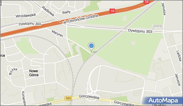 Warszawa, Marynin, mapa Warszawy