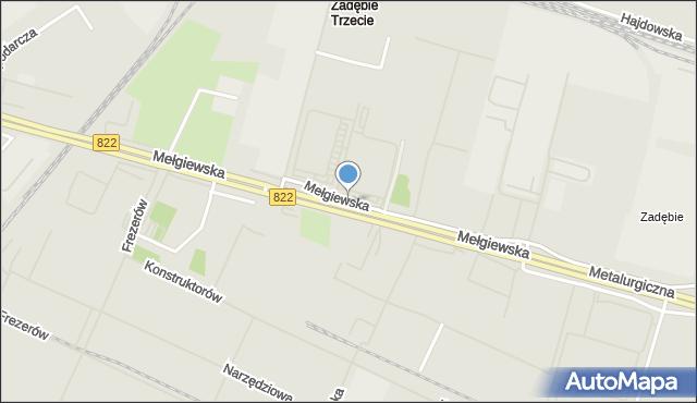 Lublin, Mełgiewska, mapa Lublina