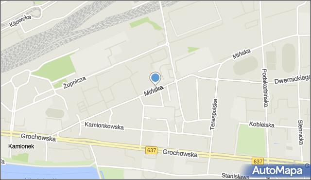 Warszawa, Mińska, mapa Warszawy