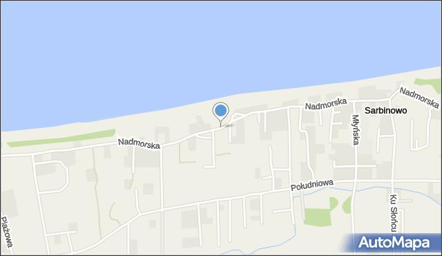 Sarbinowo, Nadmorska, mapa Sarbinowo