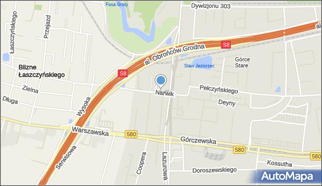 Warszawa, Narwik, mapa Warszawy