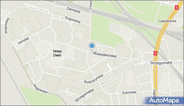 Wrocław, Nowodworska, mapa Wrocławia