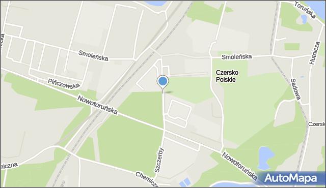 Bydgoszcz, Objazdowa, mapa Bydgoszczy