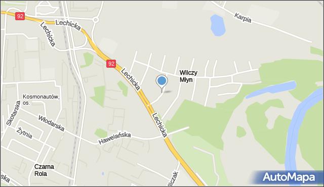 Poznań, Obrońców Tobruku, mapa Poznania