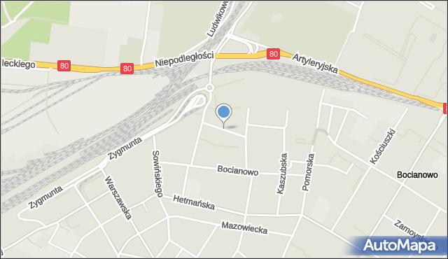 Bydgoszcz, Ogrodowa, mapa Bydgoszczy