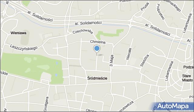 Lublin, Ogrodowa, mapa Lublina