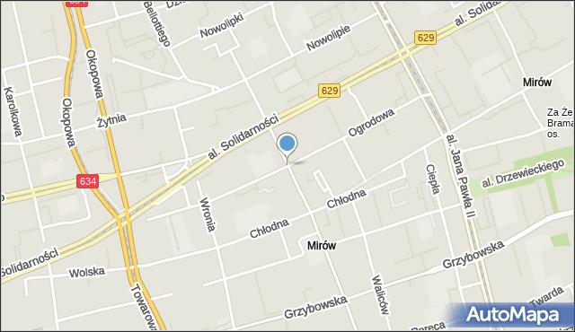 Warszawa, Ogrodowa, mapa Warszawy