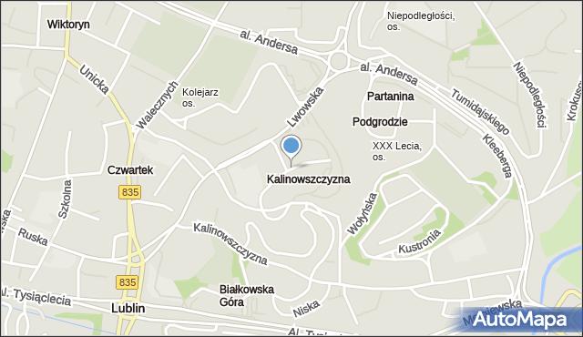 Lublin, Okrzei Stefana, mapa Lublina
