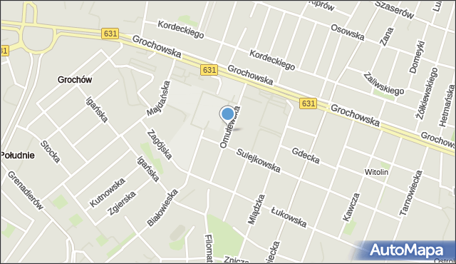 Warszawa, Omulewska, mapa Warszawy