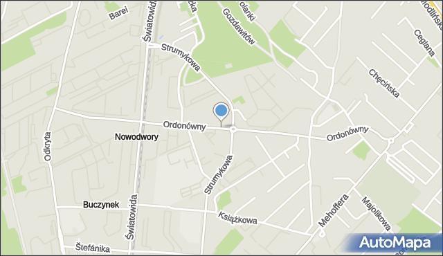 Warszawa, Ordonówny Hanki, mapa Warszawy