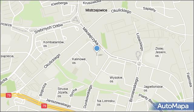 Kraków, Osiedle Kalinowe, mapa Krakowa
