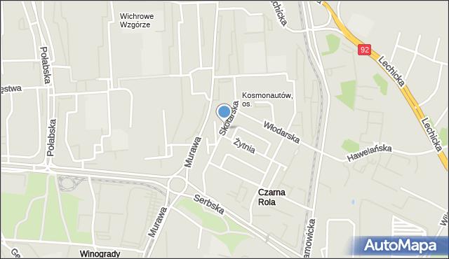 Poznań, Osiedle Kosmonautów, mapa Poznania