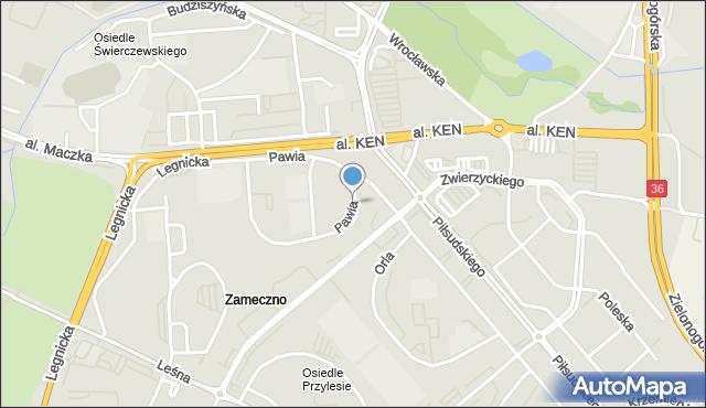 Lubin, Pawia, mapa Lubin