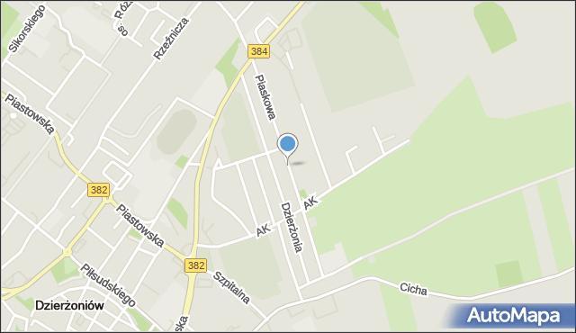Dzierżoniów, Piaskowa, mapa Dzierżoniów