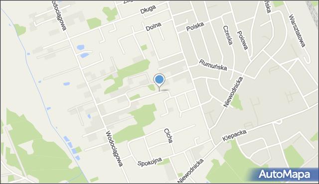Klepacze, Piaskowa, mapa Klepacze