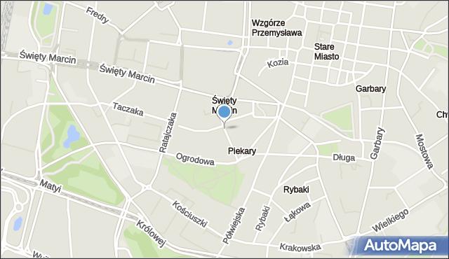 Poznań, Piekary, mapa Poznania