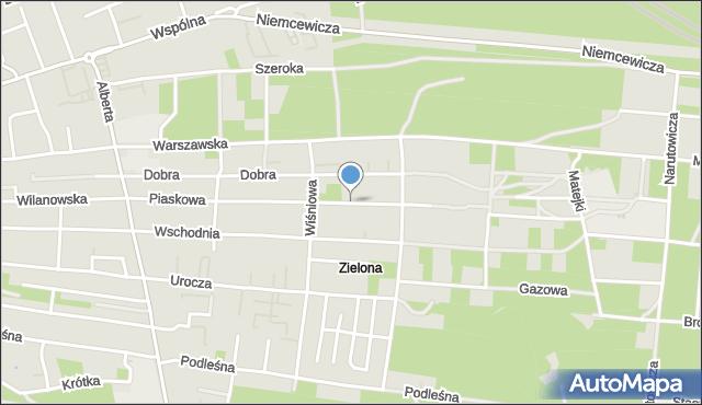 Warszawa, Piaskowa, mapa Warszawy