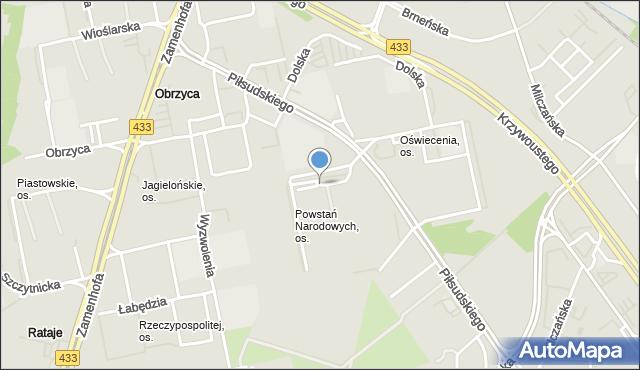Poznań, Powstań Narodowych, os., mapa Poznania