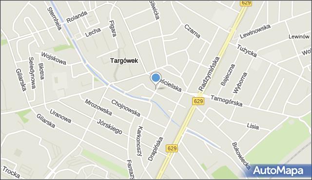 Warszawa, Poranna, mapa Warszawy