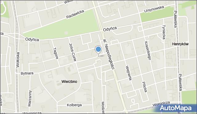 Warszawa, Promienistych, al., mapa Warszawy