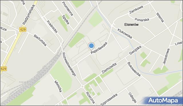 Warszawa, Przecławska, mapa Warszawy