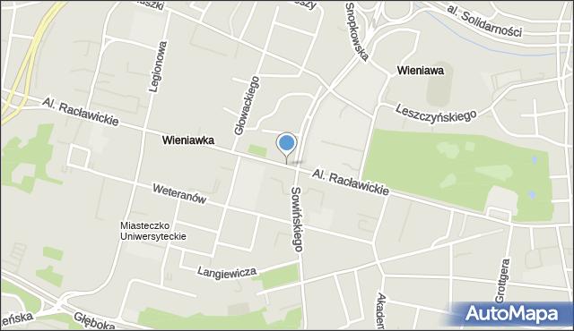 Lublin, Racławickie, al., mapa Lublina