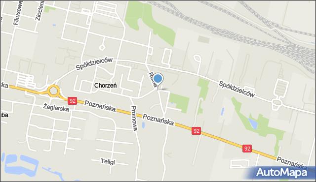 Konin, Rolna, mapa Konina