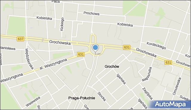 Warszawa, Rondo Wiatraczna, mapa Warszawy