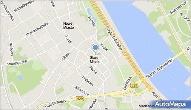 Warszawa, Rynek Starego Miasta, mapa Warszawy