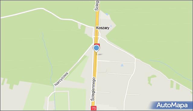 Kielce, Ściegiennego Piotra, ks., mapa Kielc