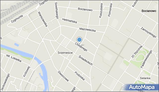 Bydgoszcz, Sienkiewicza Henryka, mapa Bydgoszczy