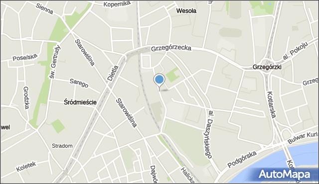 Kraków, Siedleckiego Michała, mapa Krakowa