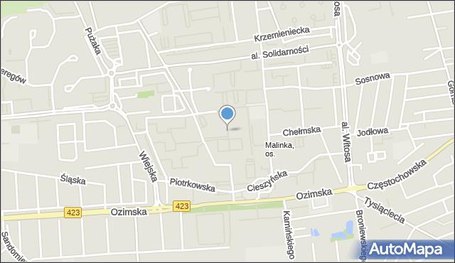 Opole, Sieradzka, mapa Opola