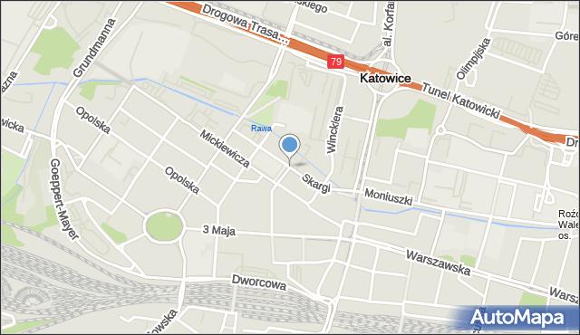 Katowice, Skargi Piotra, ks., mapa Katowic