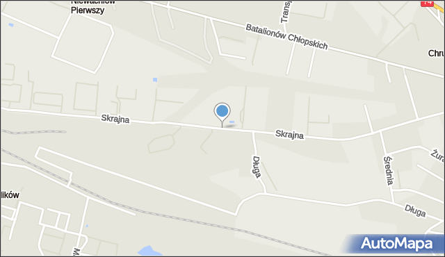Kielce, Skrajna, mapa Kielc