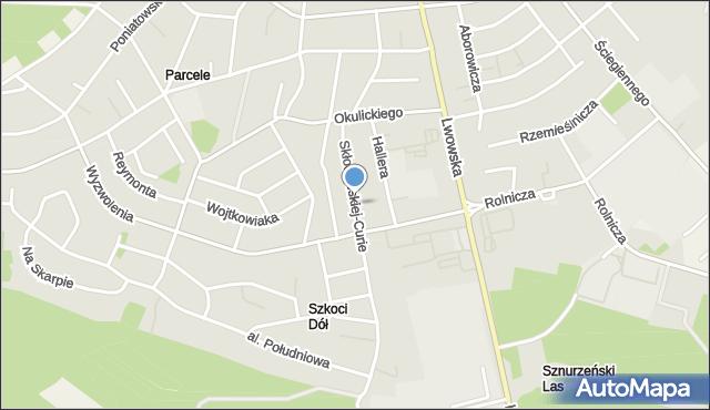 Tomaszów Lubelski, Skłodowskiej-Curie Marii, mapa Tomaszów Lubelski