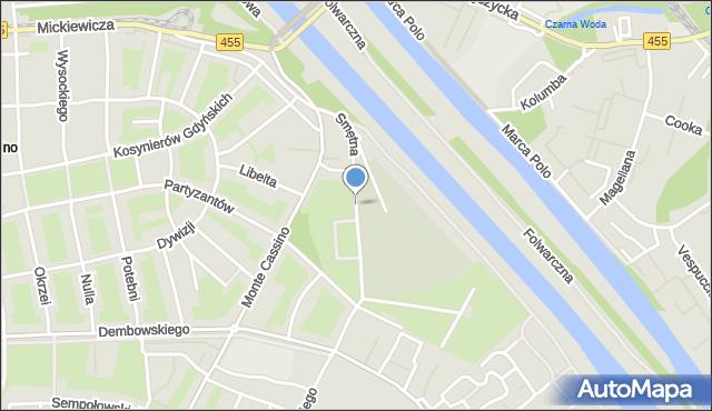 Wrocław, Smętna, mapa Wrocławia